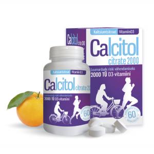 CALCITOL CITRATE 2000 närimistab N60