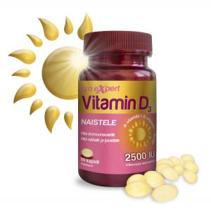Vitamin D3 Pro Expert 2500IU õlikapslid Naistele N60