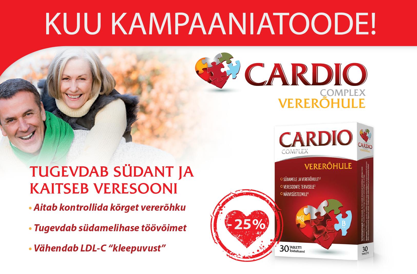 Cardio Complex Vererõhule 25